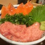 築地食堂 源ちゃん - サーモンねぎとろ丼
