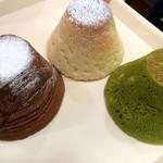 50416577 - 富士山メロン、富士山チョコ、富士山抹茶メロン