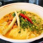 愛と勇気と炎の拉麺屋たいらん - 爆竹麺(バクチク麺)