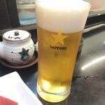 幸甚寿司 - グラスビール