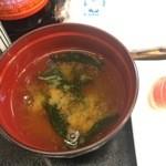 幸甚寿司 - ランチ味噌汁