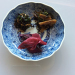 50424478 - おらがむら、ミョウガもデカイ(-_^)                       私の手作り花山椒筍、木の芽チリメン