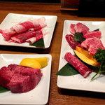 和牛・焼肉・食べ放題 肉屋の台所 - 特選牛5点盛り