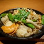 晴れる家 新保店 - ☆ホタテとキノコの炒め物(#^.^#)