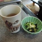 武蔵庵 - お茶とお通し(サービス)
