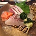 芦屋 花ゆうぜん - お造り3種盛り…旨すぎる(((o(*゚▽゚*)o)))