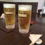 芦屋 花ゆうぜん - 生ビール( ^ ^ )/□