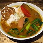 Taimupisukafe - ソーセージと野菜のスパイシーカレー(税別\950)