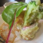 日本料理 花野江 - 揚げ物は季節の天ぷら5種