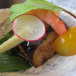 日本料理 花野江 - 賀茂茄子辛味噌→