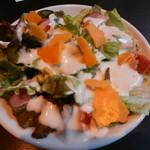 芋蔵 - 焦がしベーコン2種チーズ シーザーサラダ