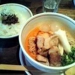 麺肴 ひづき - 担々冷麺 と味噌チャ丼