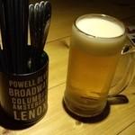 50441063 - 生ビール(箸たてと共に)