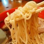 麺家おとみ - 【2016.5.1(日)】とんこつラーメン(並盛・120g)700円の麺