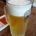 焼肉べこ壱 - 生ビール。