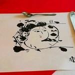 スエヒロ - 棟方志功の板画プリントのランチョンマット