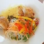 キッチン風見鶏 - メイン 佐賀鶏のハニーマスタードソース