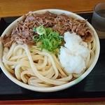セルフうどん ふじい - 肉ぶっかけ冷大(730円)