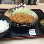 松乃家 - @奈良(2016-05)  ロースカツ定食¥500