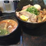 晴レル屋 - 味噌deカリー 全部乗せ 麺大盛 計¥1340