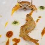 メゾン エメ・ヴィベール - 一口のお愉しみ:鮎と沢蟹のベニエ