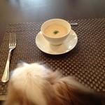 グランディール - 16/4/29 ランチのスープと愛犬の後ろ頭