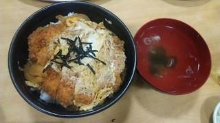鳥竹 - カツ丼も味は文句なし(加藤智子 アイランドパーティ打合せ編)