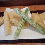 板蕎麦 香り家 - 野菜天ぷら