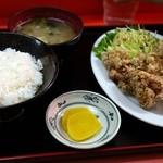 上海軒 - から揚げ定食