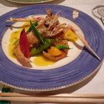 ラヴェンナ - イサキと手長海老のソテー パッションソース