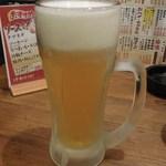 なじみ野 - 生ビール(中)