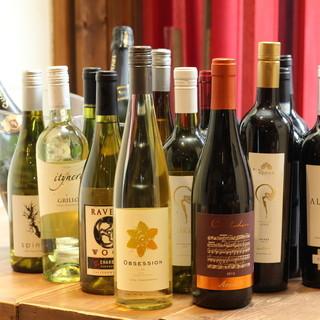 トロピカルドリンクとワインが豊富!