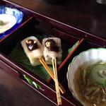 豆腐料理 松ヶ枝 - 先付け三種