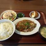 50481261 - ポークジンジャー定食(ご飯大盛り)