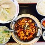 北京家庭菜 - 麻婆豆腐/豚骨ラーメン定食 @780