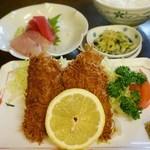 かご平 - 料理写真:あじフライ定食 1,200円