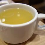 50488417 - カレー風味の野菜スープ(本日のスープ)(トースト&ゆで卵セット)