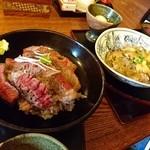 50495220 - ステーキ丼&あわび丼