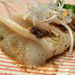 鉄板焼 花 - 鉄板焼 花(東京都渋谷区代官山町)ヤリイカの鉄板焼~生姜醤油風味