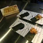 鉄板焼 花 - 鉄板焼 花(東京都渋谷区代官山町)焼うに・ホタテの磯辺焼き