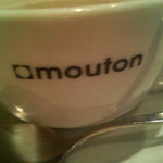 mouton valcitta - ☆カップは店名入りですね☆