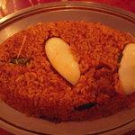 Indian Restaurant Shri Aruna - これがマトンビリヤニ ¥1,200+消費税。見た目以上に量がある。