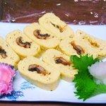 阿留酎 - 鰻巻き:こくのある日本酒に合います。秋田、京都、鳥取、石川あたりの純米が合います¥450