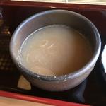 そば処さと - 蕎麦湯を入れてみた