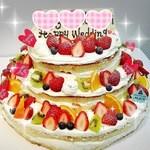 プリンセスケーキ アリス - 迫力満点♡3段ケーキ