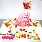 プリンセスケーキ アリス - エヴァンゲリオンのアスカのケーキ