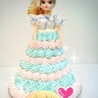 プリンセスケーキ アリス - リカちゃんケーキ