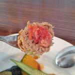 カブトスカフェ - お肉のアップ
