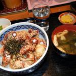 海鮮食堂 魚増 - たこ天丼定食 1100円
