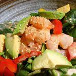 大魚 - 海老とアボガドのほうれん草サラダ